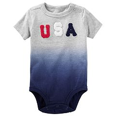 Baby Boy OshKosh B'gosh® Dip Dyed USA Bodysuit