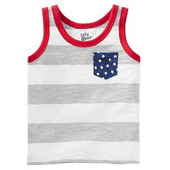 Baby Boy OshKosh B'gosh® Slubbed Stars & Stripes Tank Top
