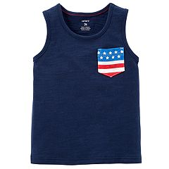 Toddler Boy Carter's Patriotic Pocket Tank Top