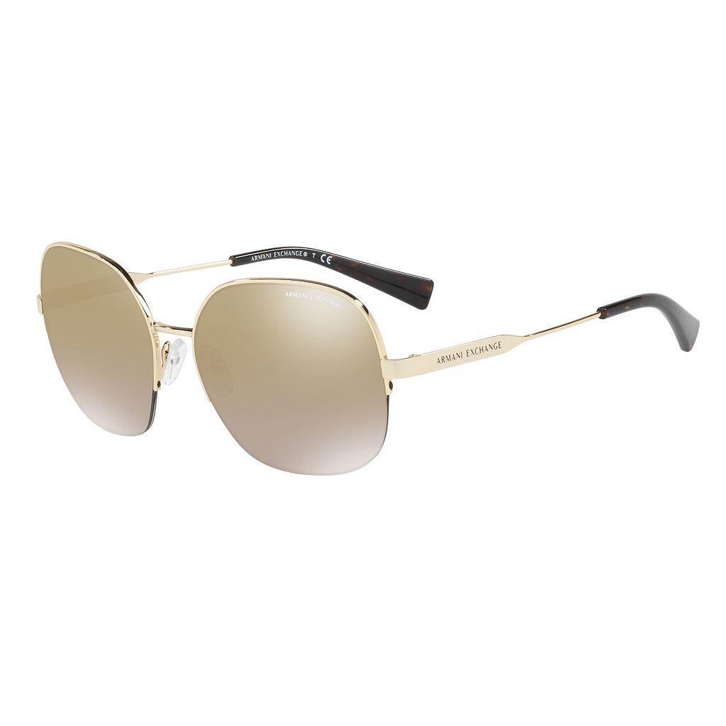 Armani Exchange AX2021S 58mm Square Mirror Sunglasses