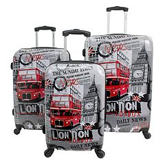 Chariot London 3-Piece Harside Spinner Luggage Set