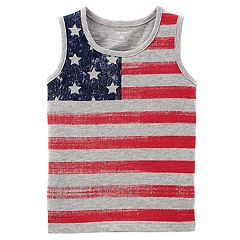 Toddler Boy Carter's American Flag Tank Top