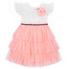 Girls 4-6x Little Lass Tiered Tulle Dress