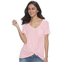 Juniors' SO® Oversized Pocket Tee