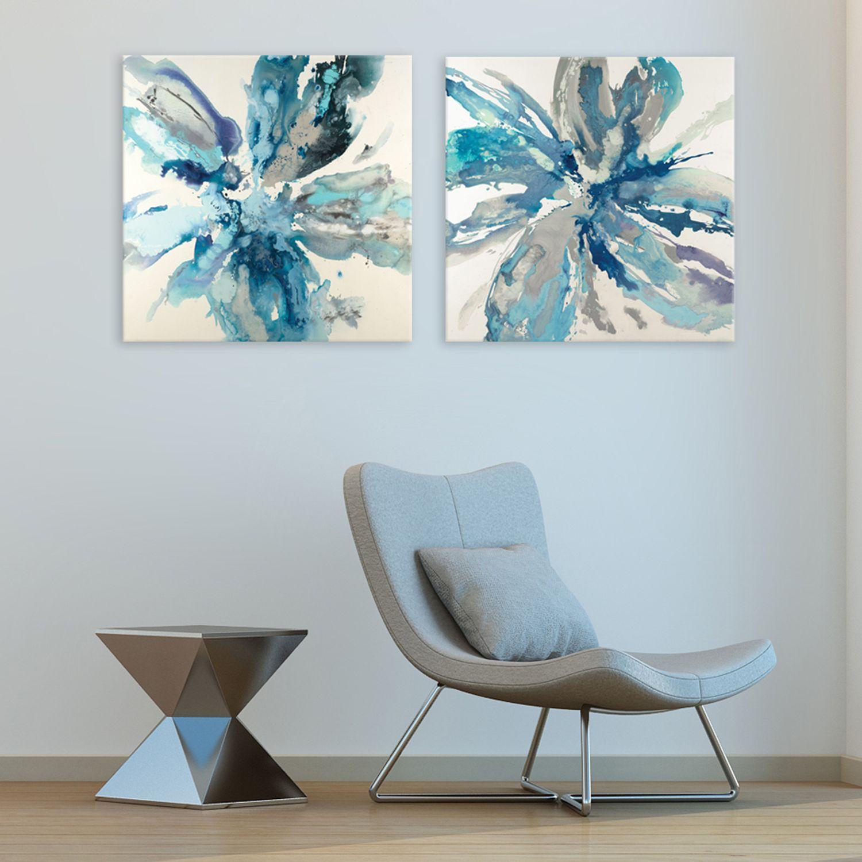 Artissimo Designs Flower Explosion Canvas Wall Art 2-piece Set & Canvas Art Wall Decor Home Decor | Kohlu0027s