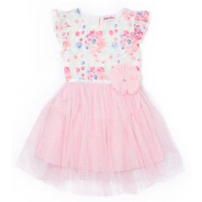 Girls 4-6x Little Lass Floral Tulle Dress