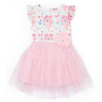 Girls 4-6x Little Lass Floral Tulle Dress