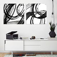 Artissimo Designs Black & White Pop Canvas Wall Art 2 pc Set