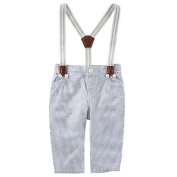 Baby Boy OshKosh B'gosh® Striped Suspender Pants
