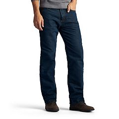 Men's Lee Flannel-Lined Straight-Leg Jeans