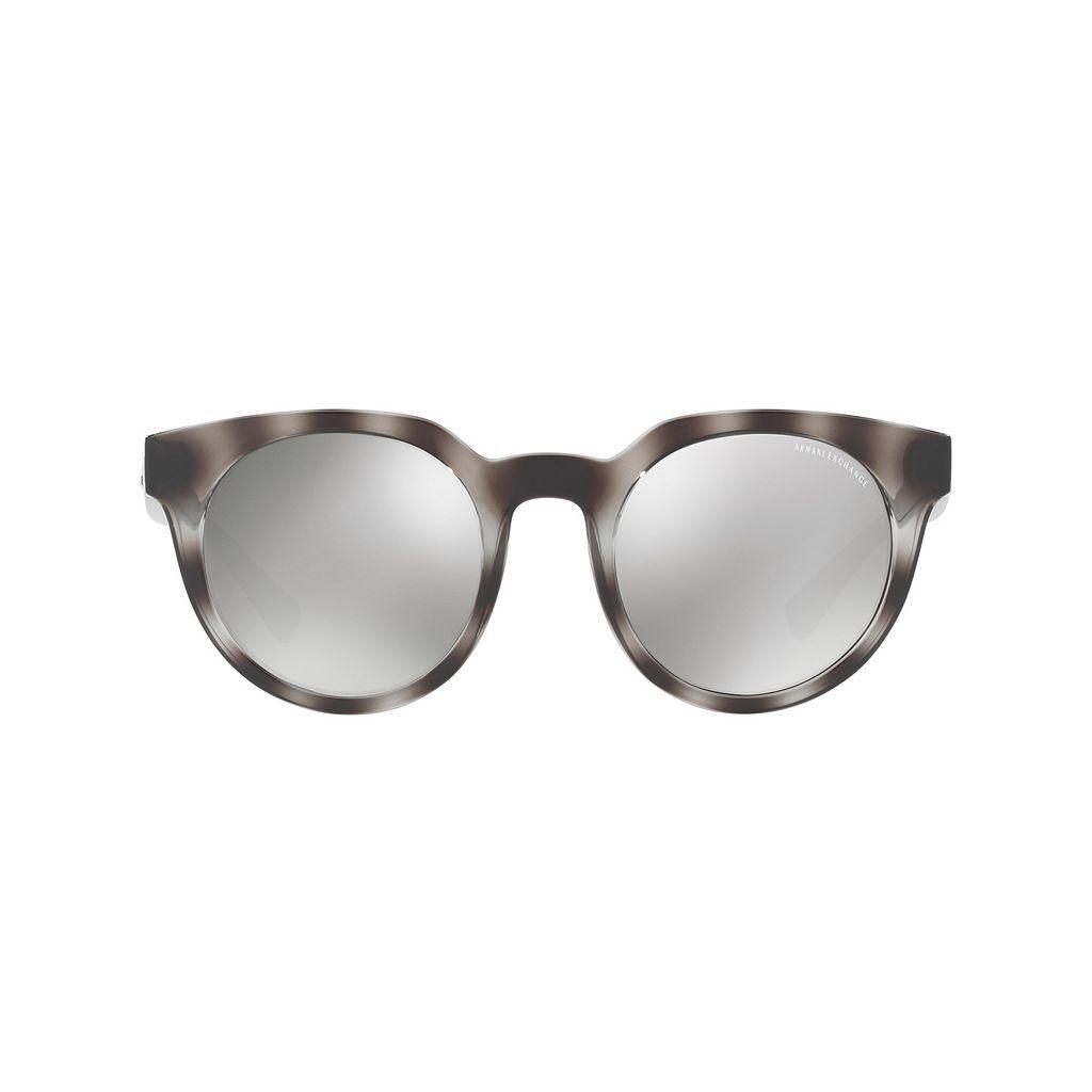 Armani Exchange AX4062S 50mm Rectangle Mirror Sunglasses