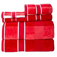 Portsmouth Home Oakville Velour 6 pc Bath Towel Set
