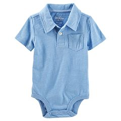 Baby Boy OshKosh B'gosh® Slubbed Pocket Polo Bodysuit