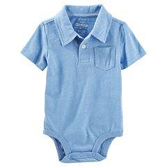 Baby Boy OshKosh B'gosh® Slubbed Pocket Polo Bodysuit