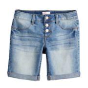 Girls 7-16 & Plus Size SO® Triple Snap Button Bermuda Shorts