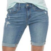 Juniors' SO® Cuffed Midi Bermuda Jean Shorts