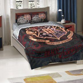 "Harry Potter ""Draco Dormiens"" School Motto Comforter Set"