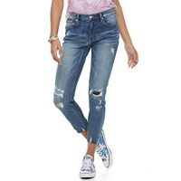 Juniors' Unionbay Laila Distressed Skinny Ankle Jeans