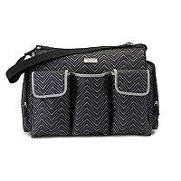 Carter's Chevron Triple Front Pocket Duffel Diaper Bag