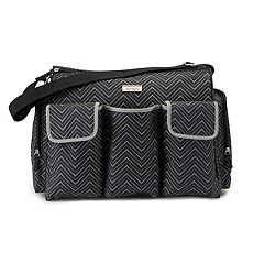 Carter's Chevron Triple Front Pocket Duffel Diaper Bag
