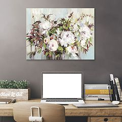 Artissimo Designs Soft Posy Canvas Wall Art