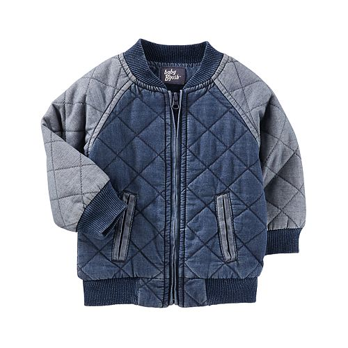 Baby Boy OshKosh B'gosh® Quilted Bomber Denim Jacket