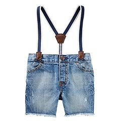 Baby Boy OshKosh B'gosh® Suspender Sun Faded Shorts