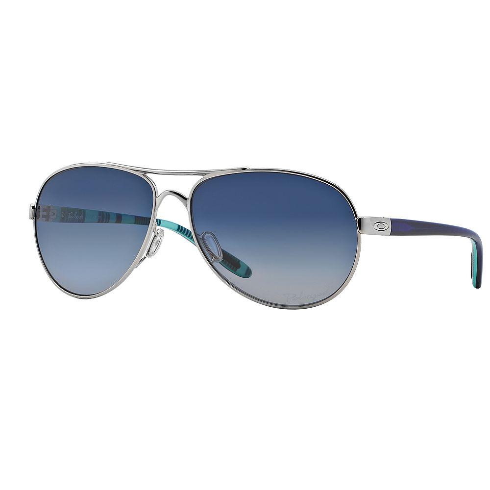Oakley Feedback OO4079 59mm Aviator Gradient Polarized Sunglasses