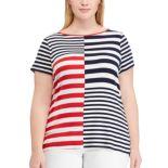 Plus Size Chaps  Stripe Top