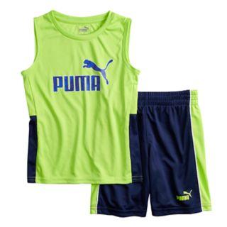 Boys 4-7 PUMA Logo Muscle Tee & Shorts Set