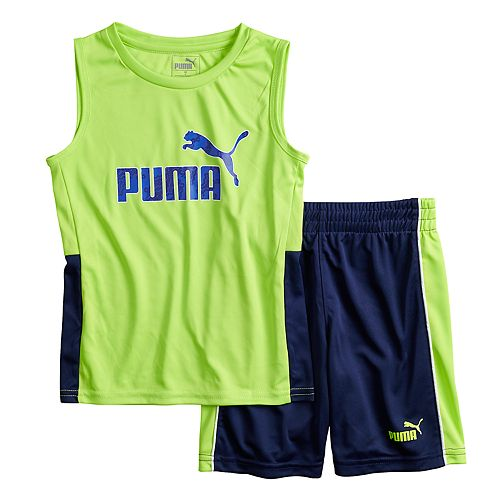 Boys 4-7 PUMA Logo Muscle Tee & Shorts Set