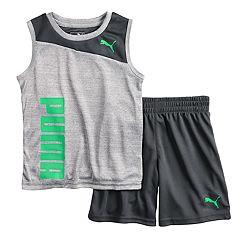 Boys 4-7 PUMA Muscle Tee & Shorts Set