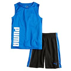 Boys 4-7 PUMA Muscle Tee & Shorts Set