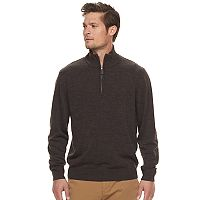 Men's Haggar Regular-Fit Diamond Quarter-Zip Sweater
