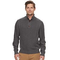 Men's Haggar Regular-Fit Cable-Knit Quarter-Zip Sweater