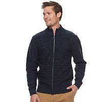 Men's Haggar Regular-Fit Marled Full-Zip Sweater