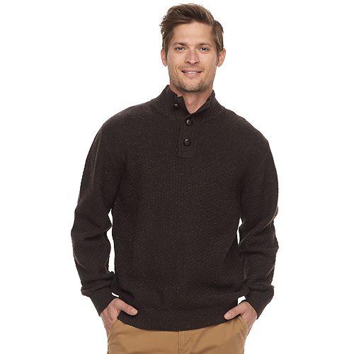 Men's Haggar Regular-Fit Textured Mockneck Sweater