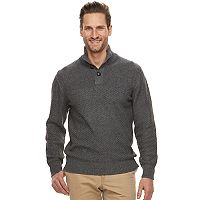 Men's Haggar Regular-Fit Textured Mockneck Sweater