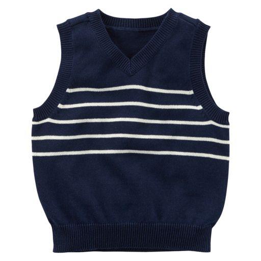 Toddler Boy Carter's Striped Sweater Vest