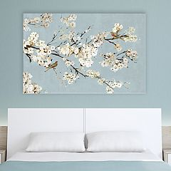 Artissimo Designs Kimono With Birds I Canvas Wall Art