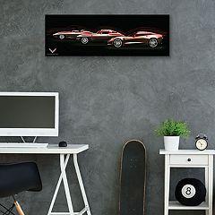 General Motors Chevrolet Corvette Stingray 3 Generations Canvas Wall Art