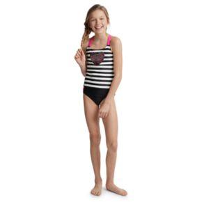 Girls 4-16 SO® Rainbow Flip Sequin Striped Tankini Top & Bottoms Swimsuit Set