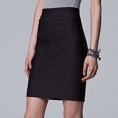 Women's Simply Vera Vera Wang Modern Twill Pencil Skirt