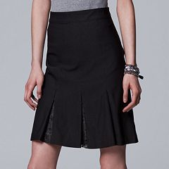 Women's Simply Vera Vera Wang Lace Inset A-Line Skirt