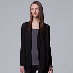 Women's Simply Vera Vera Wang Open Stitch Cardigan