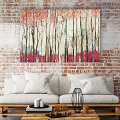 Artissimo Designs Pink Forest Canvas Wall Art