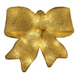 15.5-in. Pre-Lit Glittery Bow Christmas Decor