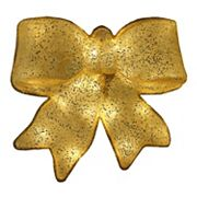 15.5 in Pre-Lit Glittery Bow Christmas Decor