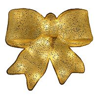 15.5 in Pre-Lit Glittery Bow Christmas Decor