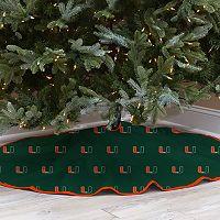 Miami Hurricanes 52-Inch Christmas Tree Skirt